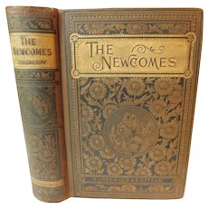 1880s The Newcomes Memoirs of A Most Respectable Family by William Makepeace Thackeray Antique Victorian Book Fine Binding Household Edition