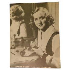 Marian Marsh 1940s Studio Photo Original Print Perfume Parfum Bottles Columbia Picture Star Movie Vintage