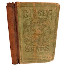Scarce 1865 Ginger Snaps A Collection of Two Thousand Scintillations of Wit by Jo Cose Antique Victorian Pocket Sized Humor Satire Joke Book
