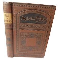 1887 The Bag of Diamonds by George Manville Fenn Victorian Dime Novel Suspense Mystery Book Fine Binding Arlington Edition