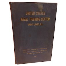 1947 United States Naval Training Center Company 160 to 167 Great Lake Illinois Yearbook U.S.N. Sailor Bill Caswell 1947-1952 Vintage Military Book