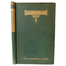1870 The Poetical Works of Poet Laureate Alfred Tennyson Gustave Dore Illustrated Throughout Bound Upside Down Antique Victorian Book Poems