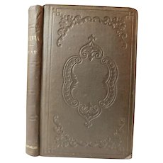 1857 Sylvia or The Last Shepherd An Eclogue & Other Poems Alpland by Thomas Buchanan Read Antique Victorian Poetry Book first edition
