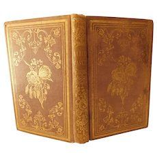 1853 The Ladies' Casket Poetry Sentiment & Poetical Description For Each Day of Week & Month Also Gemstone Mineral Meaning by Hanson Antique Book