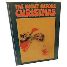 1922 The Night Before Christmas Santa Claus Poem Poetry Antique Book St. Nicholas Illustrated Childrens