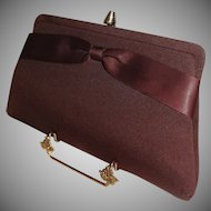 Vintage 1960's  Brown Convertible Clutch Purse
