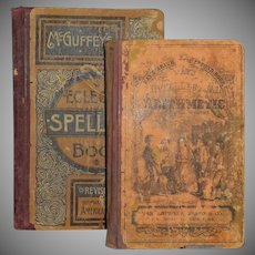 McGuffey's Eclectic Spelling Book(c.1879) and Ray's Intellectual Arithmetic (c.1881)