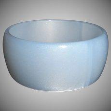 Vintage Blue Moonglow Lucite Bangle Bracelet