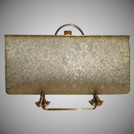 Vintage Gold Brocade Evening Bag