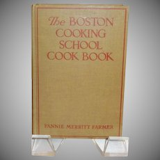 The Boston Cooking School Cook Book by Fannie Merritt Farmer c. 1939