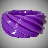 Vintage HUGE Spiral Molded Plastic Bangle Bracelet Made in Western Germany