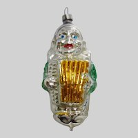 Vintage Glass Figural Clown Ornament Made in West Germany