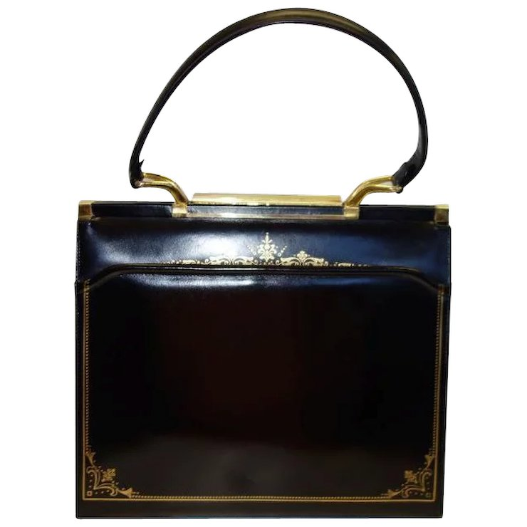 Vintage Black Italian Leather Purse by Leather School Florence SOLD ... 638f6cf3b0