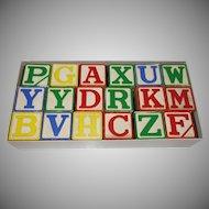 Vintage Halsam Large Alphabet Blocks Unused in Original Box