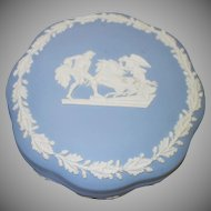 Vintage Blue and White Wedgewood Dresser Jar