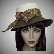 Vintage Hat by Designer Frank Olive