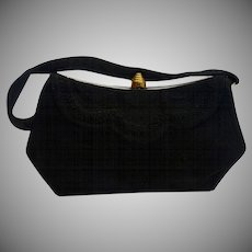 Vintage 1940's Black Genuine Corde' Purse