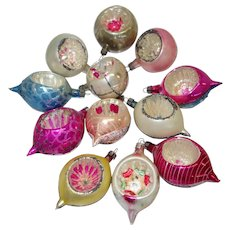 12 Fantasia Brand Feather Tree Ornaments from Poland in Original Box
