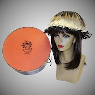 Vintage Peck and Peck Hat and Hatbox Made in Italy
