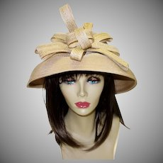 Vintage Woven Hat Fine Millinery Collection by August Accessories
