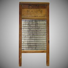 Vintage  Dubl Handl Washboard by the Columbus Washboard Co.