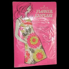Vintage Unopened Hallmark Flower Fantasy Paper Party Dress Size Medium 12-14 - Red Tag Sale Item