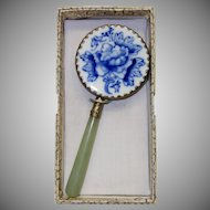 Vintage Small Purse Mirror in Original Box