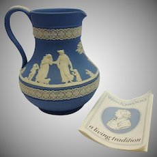 Vintage Wedgwood Jasperware Pitcher with Original Paperwork