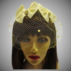 Vintage 1950's Yellow Whimsy or Church Hat
