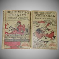 The Adventures of Johnny Chuck and  Reddy Fox by Thornton W. Burgess