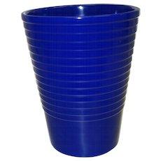 Vintage Ribbed Cobalt Blue Ceramic Vase Made in Germany - Red Tag Sale Item