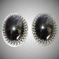 Vintage Whiting and Davis Hematite Earrings