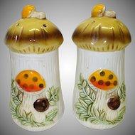 Sears Merry Mushroom Salt and Pepper Shakers c. 1976
