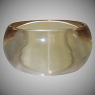 Vintage Transparent Brown Lucite Bangle Bracelet