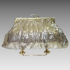 Vintage Whiting and Davis Silver Tone Metal Mesh Purse