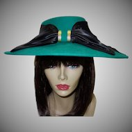 Vintage Green Wool Hat by Sonni San Francisco