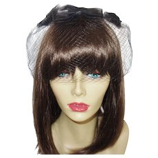 Vintage Black Double Net Whimsy with Bows