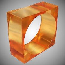 HUGE Chunky Square Resin Bangle Bracelet