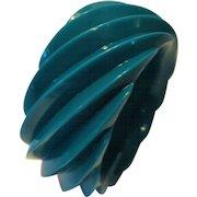 Vintage HUGE Spiral Molded Plastic Bangle Bracelet Made in Western Germany