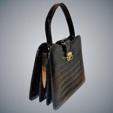 Elegant Baby Crocodile Handbag Made in France