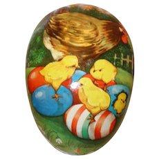 "HUGE 11 PC. West Germany Paper Mache Nesting Easter Egg Set in Original Box Largest Egg is 16"" x 12"""