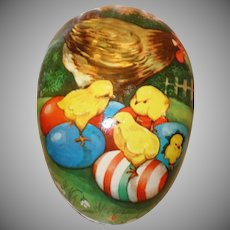 HUGE 11 PC. West Germany Paper Mache Nesting Easter Egg Set in Original Box