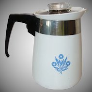 Vintage Corning Ware 4 Cup Stove Top Coffee Pot