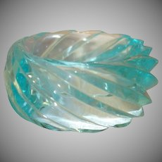 HUGE Molded Mint Green Spiral Lucite Bangle Bracelet