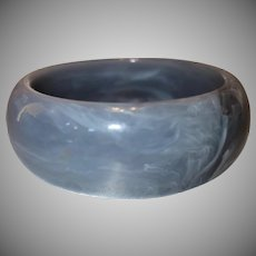 Vintage Marbled Gray Lucite Bangle Bracelet