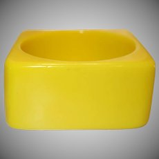 Vintage Yellow Square Lucite Bangle Bracelet