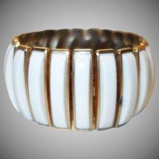 Vintage White Lucite Expansion Bracelet