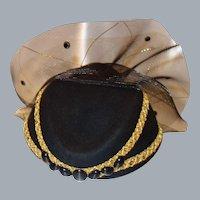 Vintage Elegant Wool Cocktail Hat by Bellini