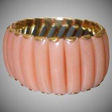 Vintage Peach Lucite Expansion Bracelet