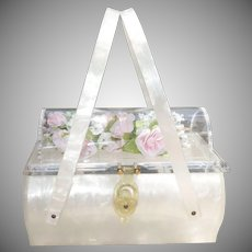"RARE Lucite ""Coffin"" Purse by Rialto"